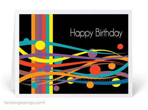 Modern Happy Birthday Wishes Modern Birthday Cards Harrison Greetings Business