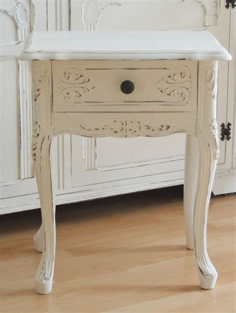 shabby chic side table bedroom inspirations pinterest