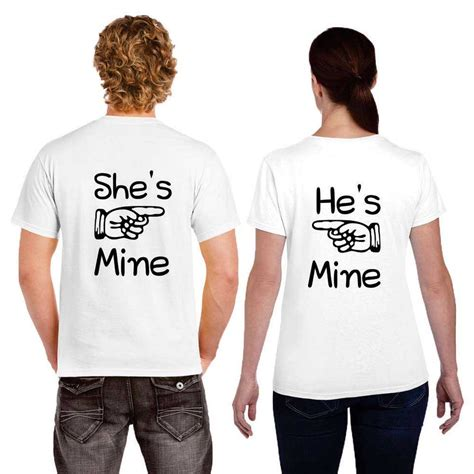 T Shirts For Couples He S Mine She S Mine T Shirts Giftsmate
