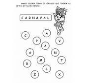 ATIVIDADES DE CARNAVAL TURMA DA M&212NICA  Cantinho Do Educador