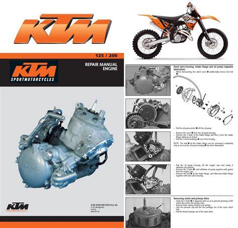 Ktm 200 Service Manual Ktm 125 200 Sx Mxc Exc Service Repair Manual Cd 1999