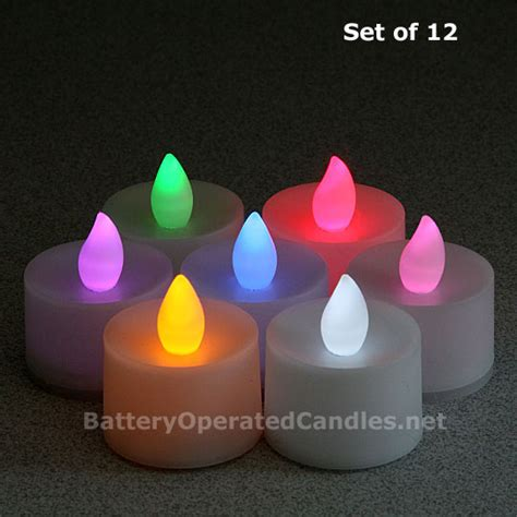 color battery flameless color changing led battery operated set of 12