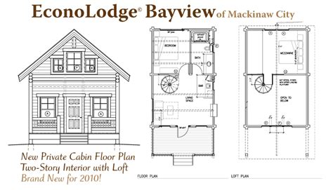 cabin layout plans mackinaw city hotels amenities econo lodge bayview motel