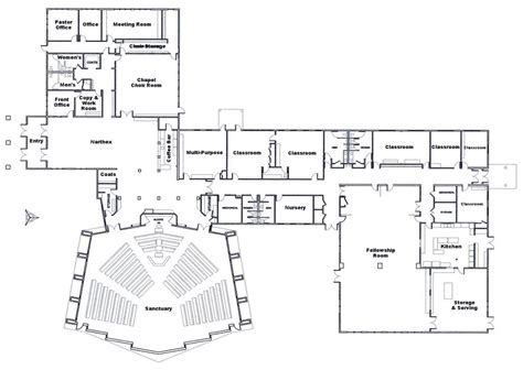 church designs and floor plans church floor plans