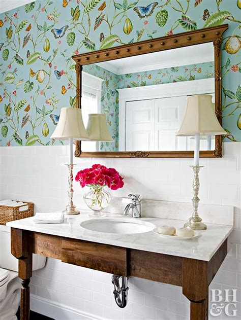 home and garden bathroom ideas powder room ideas better homes and gardens bhg com