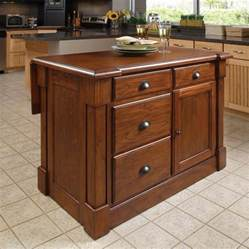 kitchen islands at lowes shop home styles 48 in l x 26 75 in w x 36 in h rustic