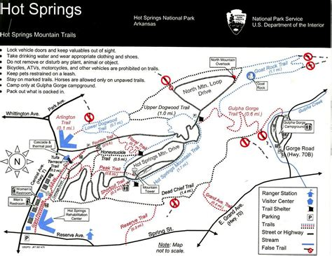 park trail map springs national park trail maps hike our planet