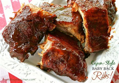 louisiana cajun style barbecued baby  ribs dry rub easy mop sauce wildflours cottage