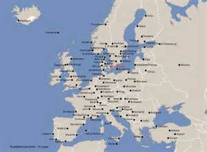 airports in map map europe airports