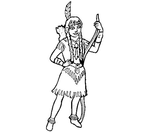 indian girl coloring page coloring pages