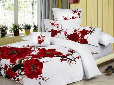red floral comforter sets best red rose print bedding sets 3d bedding and