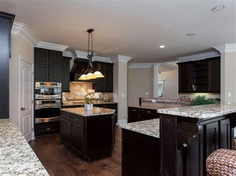 kitchen cabinets with light granite countertops deep espresso cabinets with light granite countertops new
