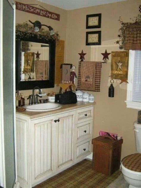 Primitive Country Bathroom Ideas Country Bath Primitive Home Pinterest