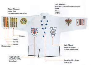 what side do sts go on ata uniform proper placement of patches chevrons and collars performance martial arts