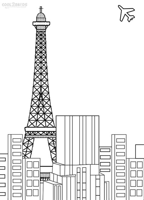 printable coloring page of eiffel tower printable eiffel tower coloring pages for kids cool2bkids