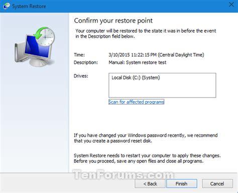 tutorial restore windows 10 system restore windows 10 windows 10 tutorials