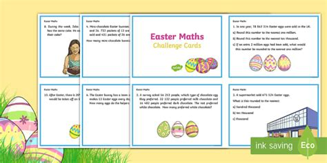 year 6 maths challenge cards year 5 easter maths challenge cards ks2 easter 2017 16th