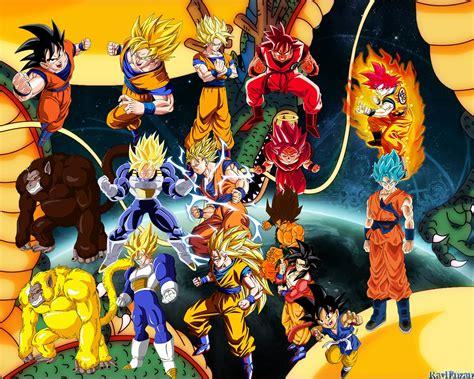 imagenes de goku todas las transformaciones dragon ball z super gt todas las transformaciones de