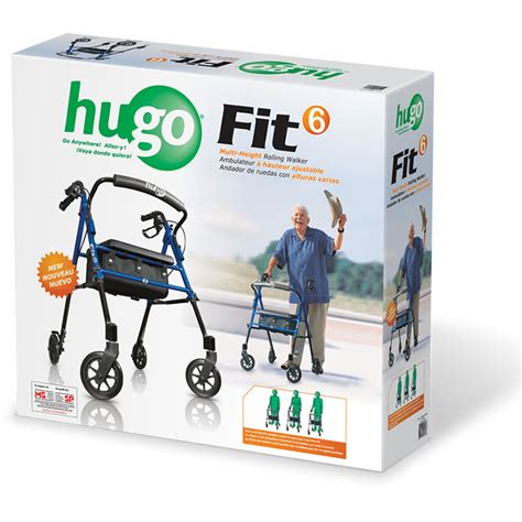 hugo walker with seat hugo 174 fit 6 rolling walker with a seat pacific blue
