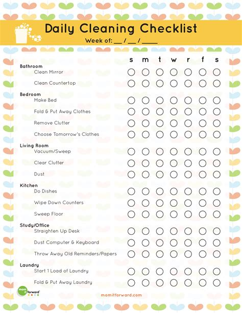 organize my house checklist 6 best images of office organization printables blog