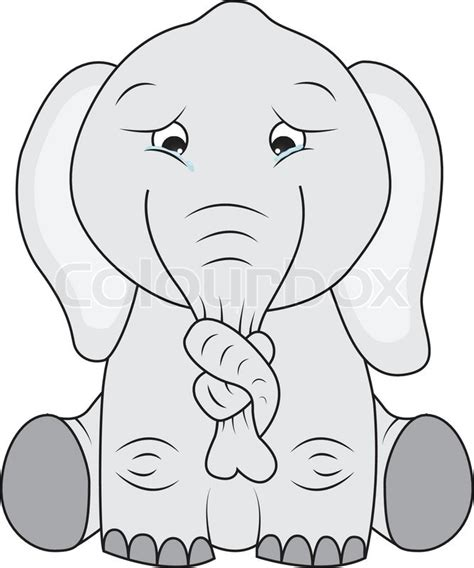 the elephant with a knot in his trunk books sad elephant with knot on its nose stock vector colourbox