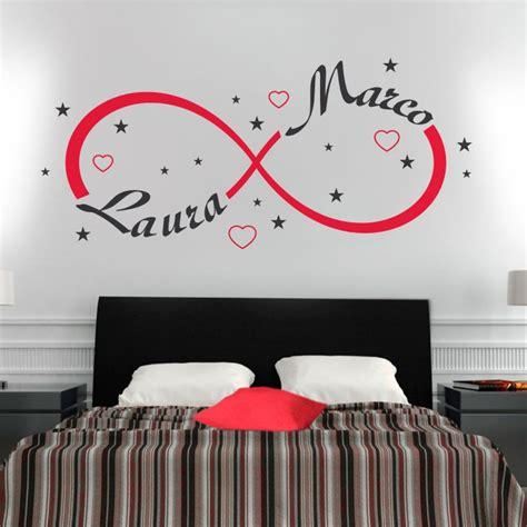 adesivi parete da letto wall sticker adesivo muro simbolo infinito gigio store