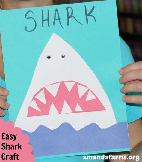 easy shark crafts for easy shark craft amanda farris