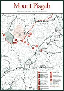 carolina mountain map sherpa guides carolina mountains mount pisgah