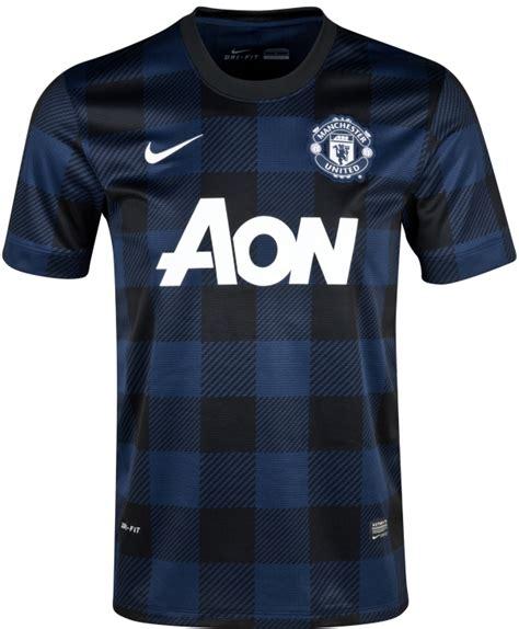 Jersey Mu Aon Blue new utd away kit 13 14 manchester united nike away