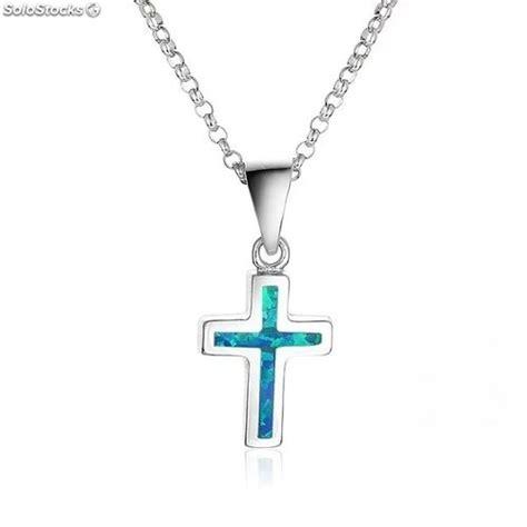 cadenas de plata religiosas cadena dije de cruz 243 palo azul en plata 925 joyer 237 a religiosa