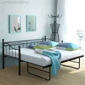 Metal Guest Bed With Trundle Metal Day Bed Frame With Trundle Guest Bedstead