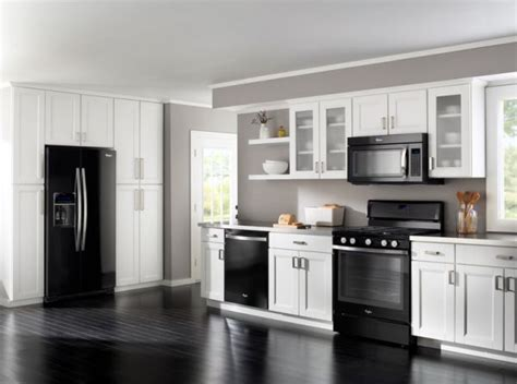 white kitchen with black appliances how to decorate a kitchen with black appliances