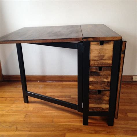 Kitchen Island Leg save space by building your own foldable craft table