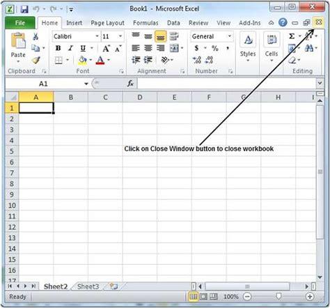 excel 2010 workbook tutorial how to close workbook in excel 2010 1 clarified com