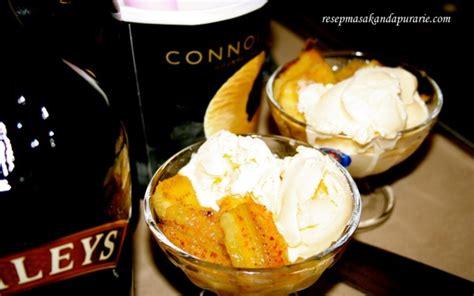 cara membuat es cream pisang pisang goreng es krim resep masakan dapur arie