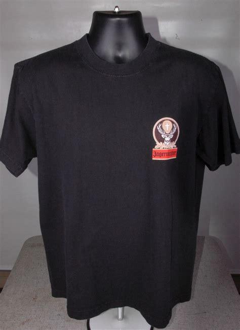jagermeister t shirt black large l t shirts tank tops