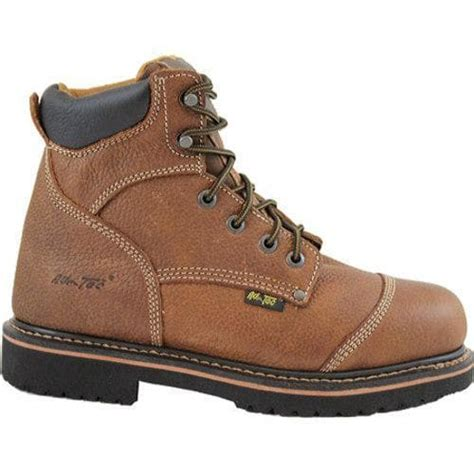 comfort work shoes men s adtec 9186 comfort work boots 6in light brown