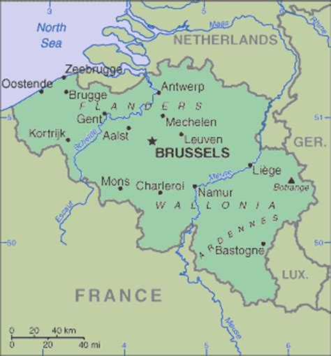 belgium rivers map belgium europe