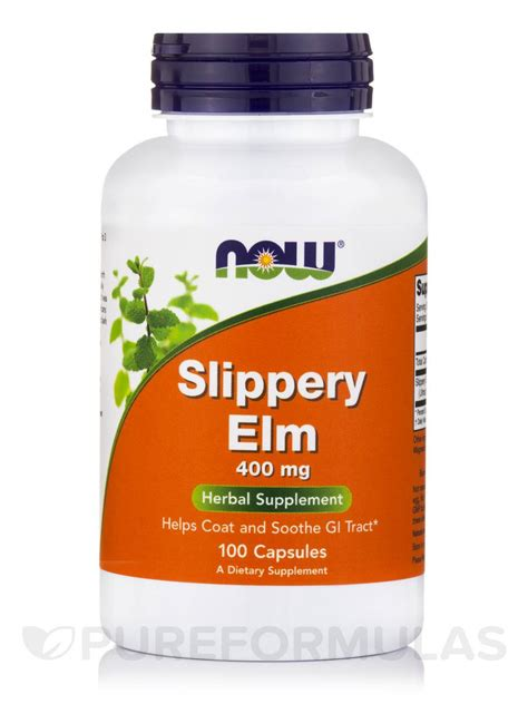 slippery elm for dogs slippery elm 400 mg 100 capsules