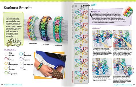 Printable Directions For Rubber Band Bracelets | totally awesome rubber band jewelry by colleen dorsey