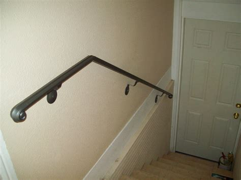 Metal Wall Mounted Stair Handrail Interior Wall Mounted Handrails Picture Rbservis