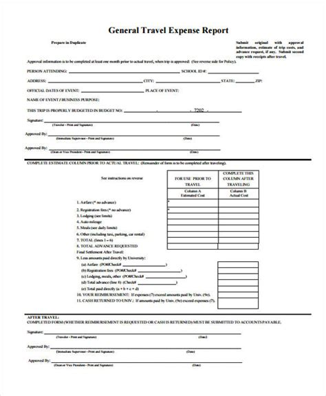credit card expenditure form template 23 expense report form templates