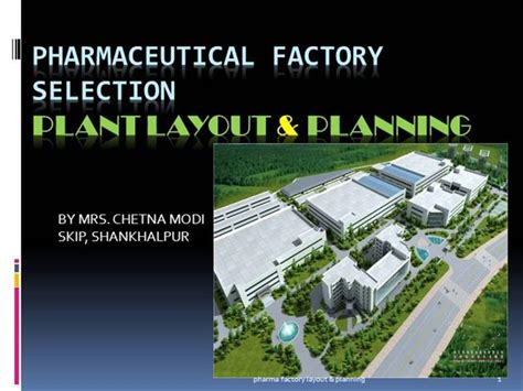 plant layout presentation pharma factory layout authorstream