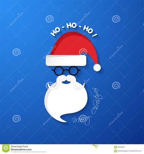Kaos Santa Mustache Ho Ho Ho ho ho ho merry santa claus with hat and beard stock vector illustration of