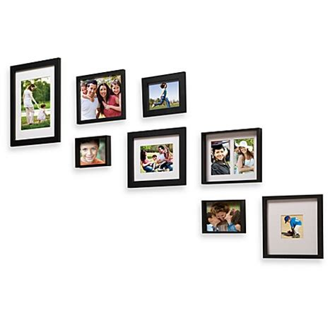 bed bath and beyond frames wallverbs gallery solution 8 piece photo frame set bed