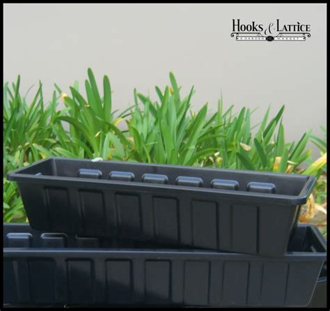plastic window box liners black plastic liners great for starting seedlings hooks