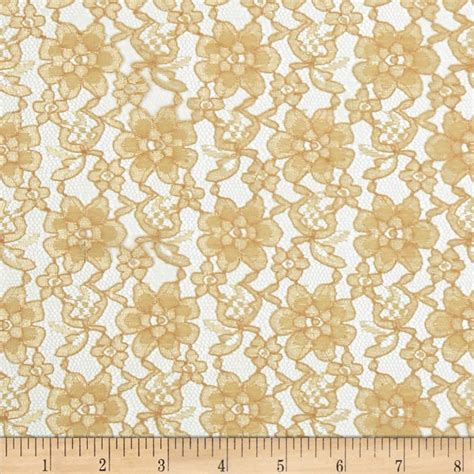 designer fabric raschelle lace gold discount designer fabric fabric com