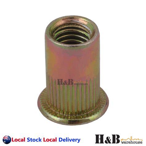 Dijamin Dynabolt M10 X 50 m10 x 50 nutserts rivet nuts flange blind rivnuts zinc plated steel nut nutsert ebay