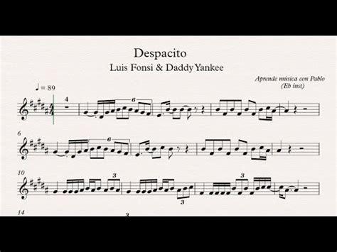 despacito note despacito flauta viol 237 n oboe partitura con