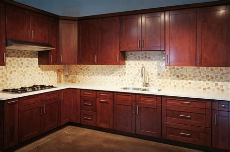 Mahogany Kitchen Cabinets by Mahogany Shaker Rta Cabinets Cabinet City Kitchen And Bath